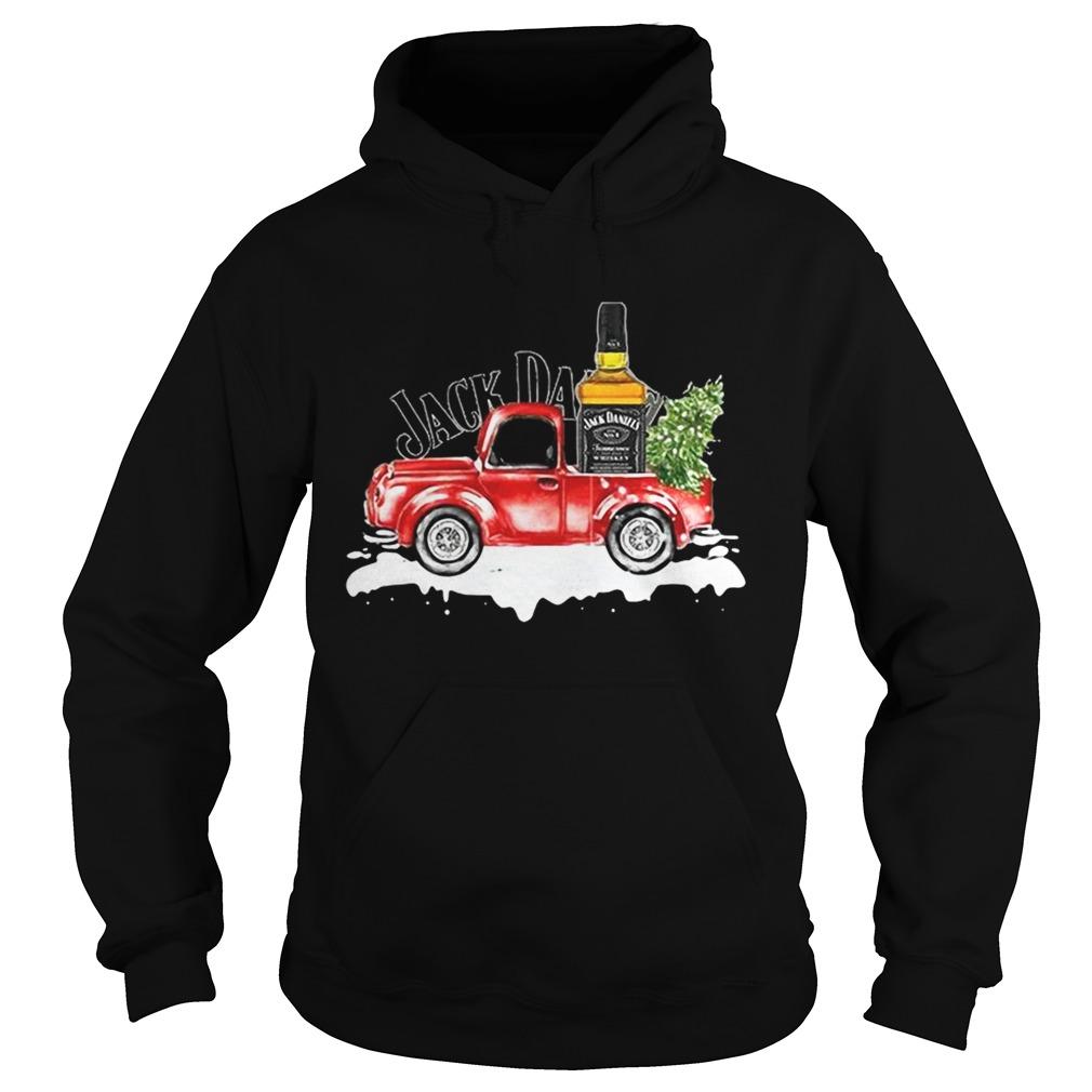 Jack Daniels Whiskey christmas truck Hoodie