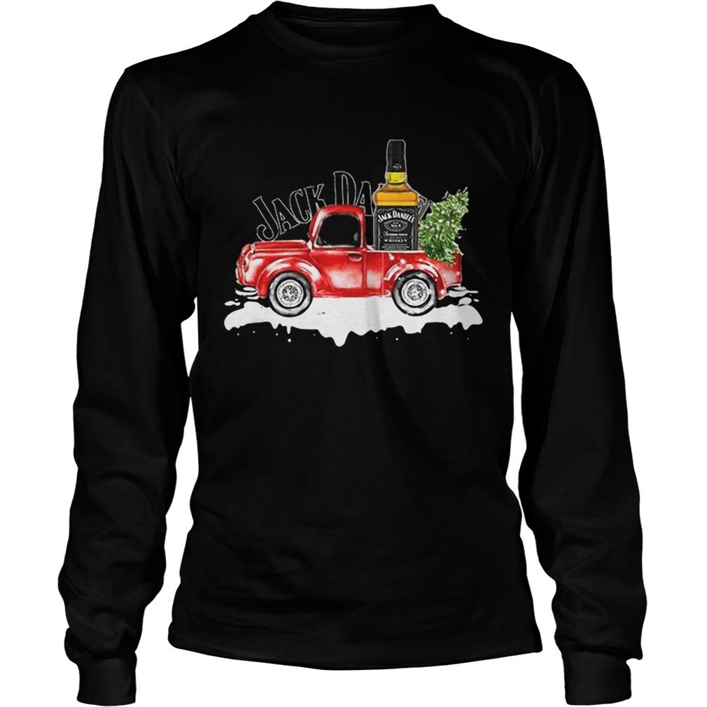Jack Daniels Whiskey christmas truck LongSleeve