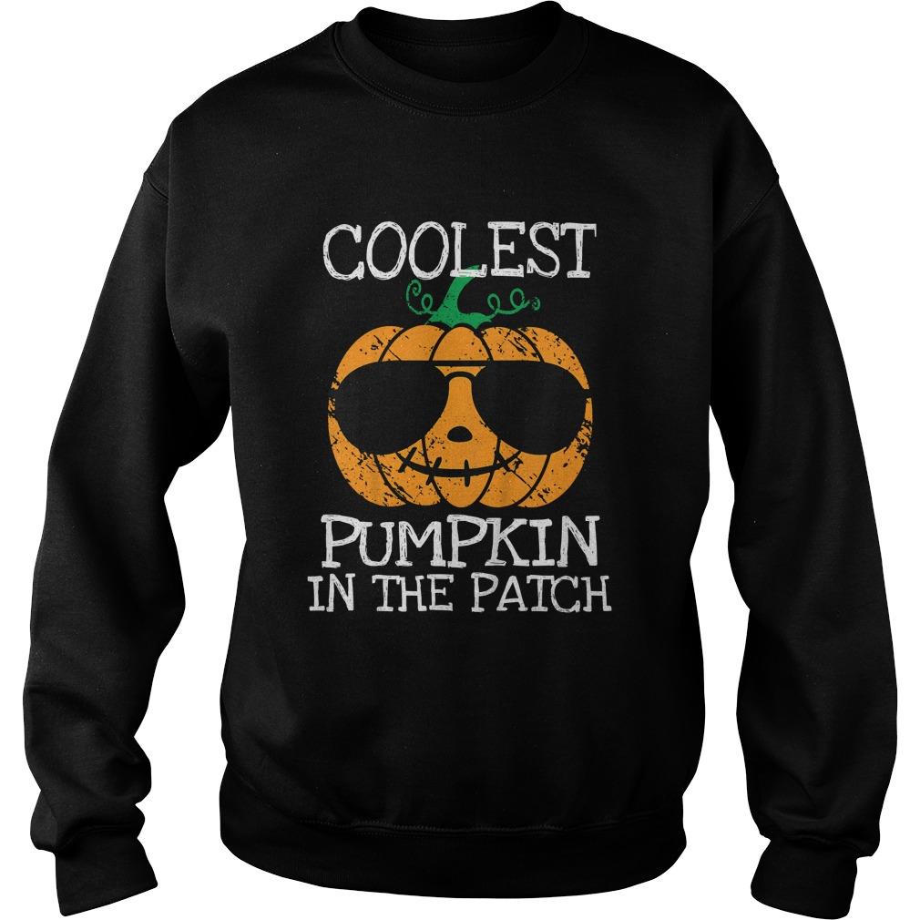 Kids Coolest Pumpkin In The Patch Halloween Costume Boys Gift TShirt Sweatshirt