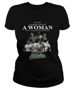 Never underestimate a woman who understands baseball and loves Athletics Shirt Classic Ladies
