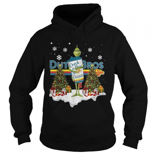 Official Grinch hug Dutch Bros Coffee Christmas  Hoodie