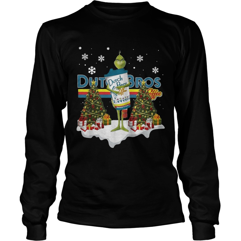Official Grinch hug Dutch Bros Coffee Christmas LongSleeve