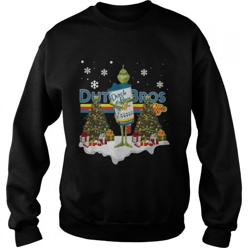 Official Grinch hug Dutch Bros Coffee Christmas  Sweatshirt