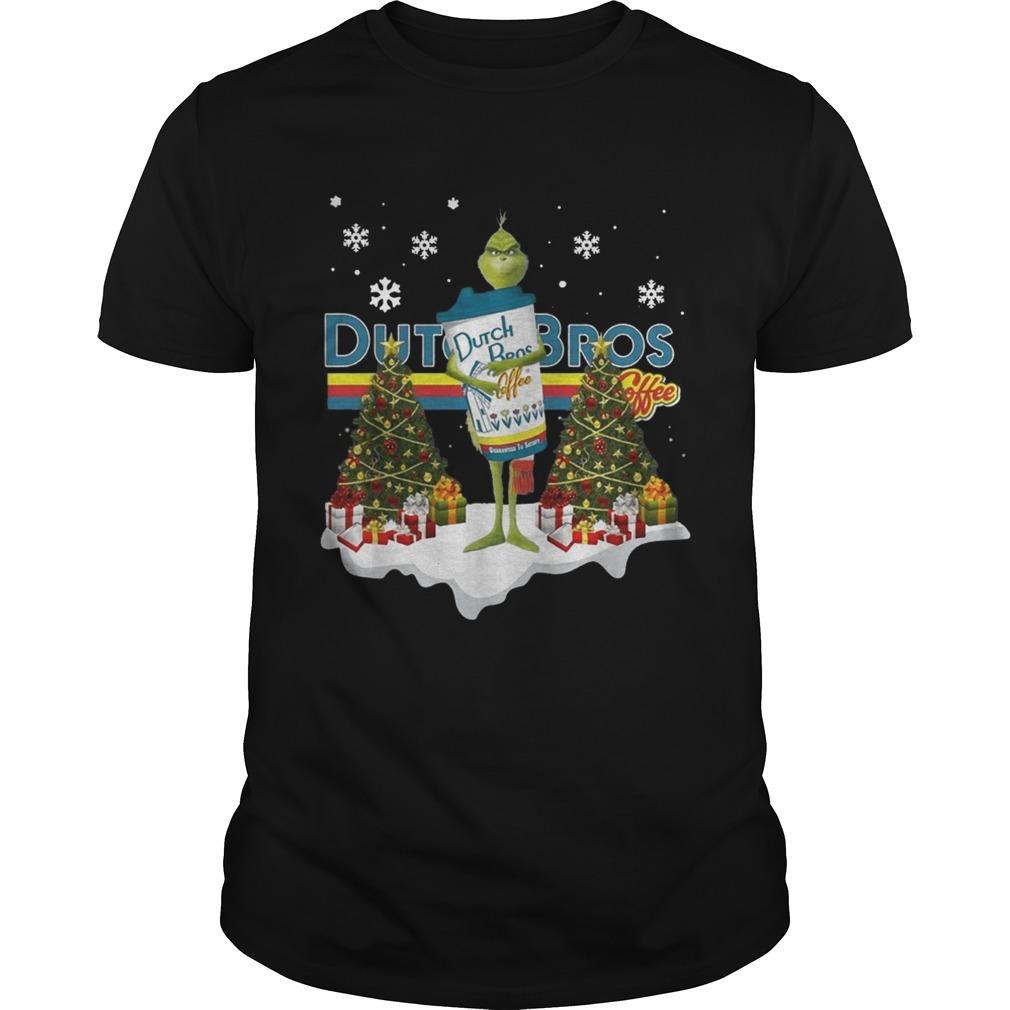 Official Grinch hug Dutch Bros Coffee Christmas Unisex