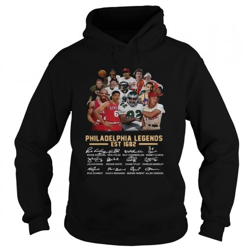 Philadelphia legends est 1682 signature  Hoodie