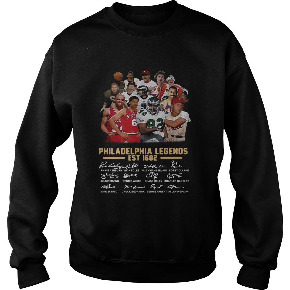 Philadelphia legends est 1682 signature Sweatshirt