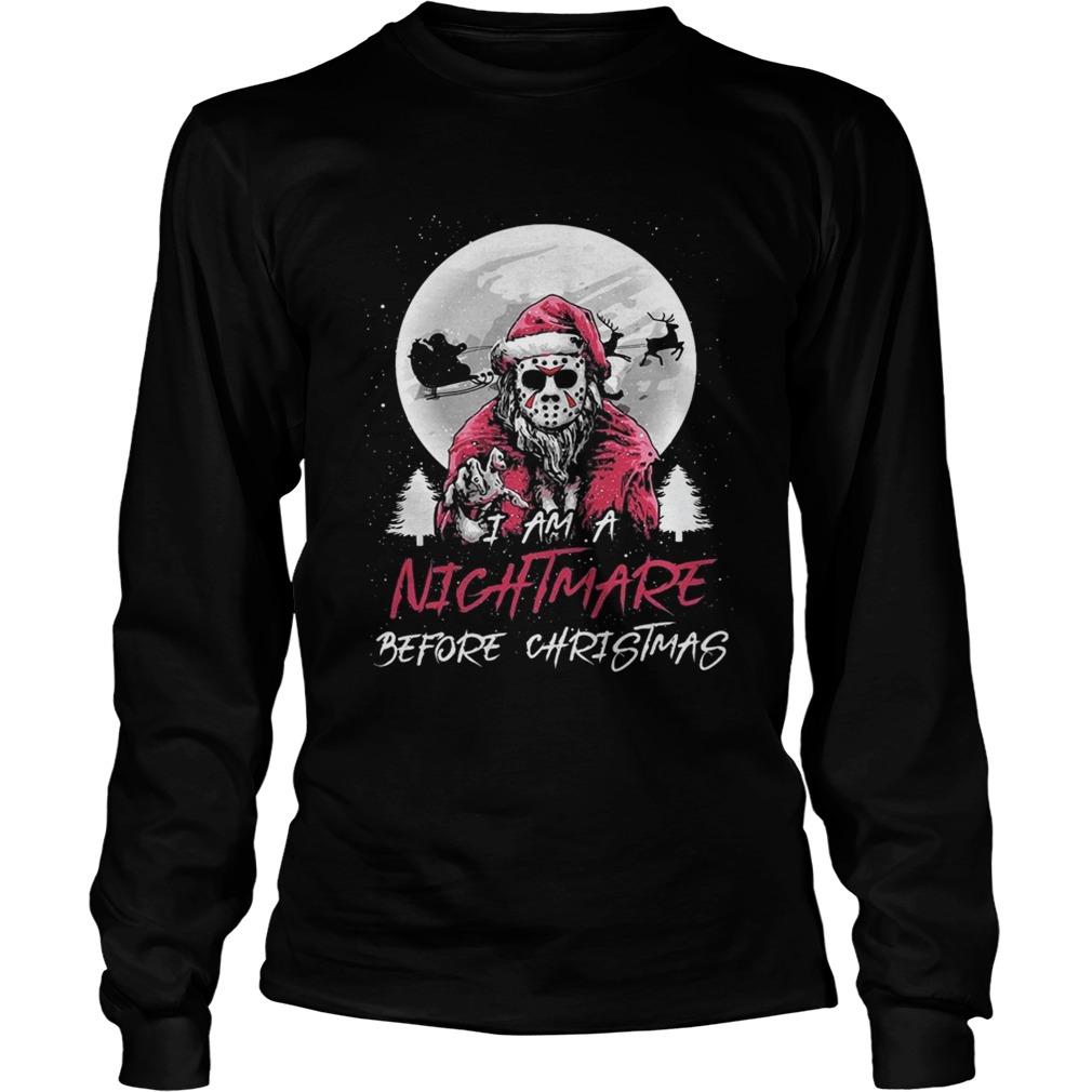 Santa Jason Vorhees I ams nightmare before christmas LongSleeve