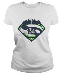 Seattle Seahawks Superman 12 Shirt Classic Ladies