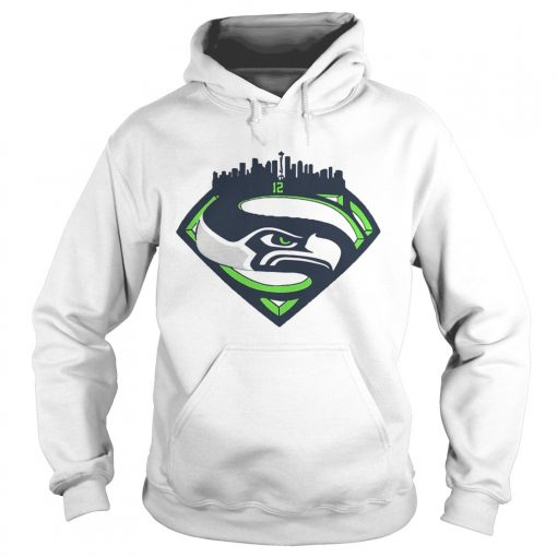 Seattle Seahawks Superman 12 Shirt Hoodie