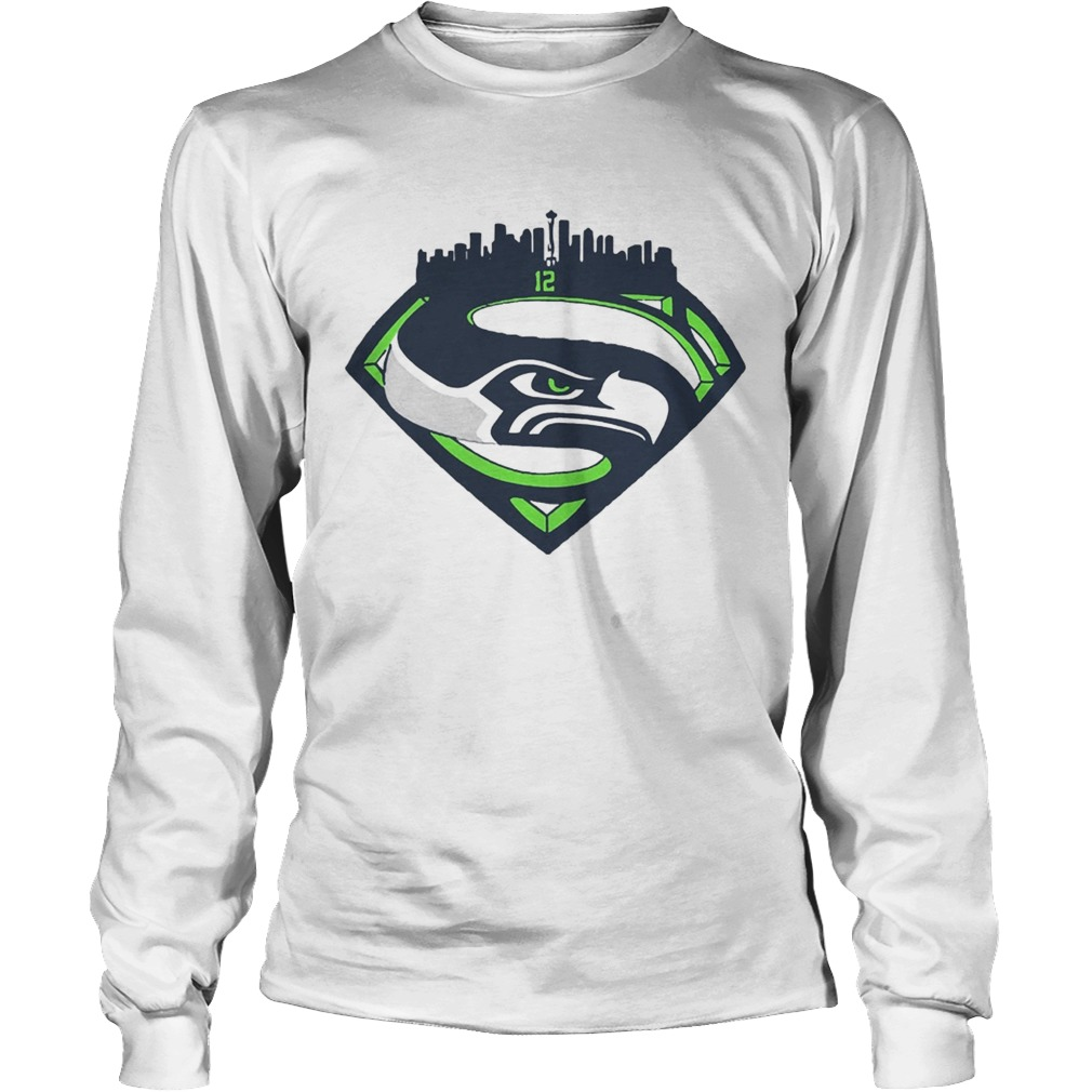 Seattle Seahawks Superman 12 Shirt LongSleeve
