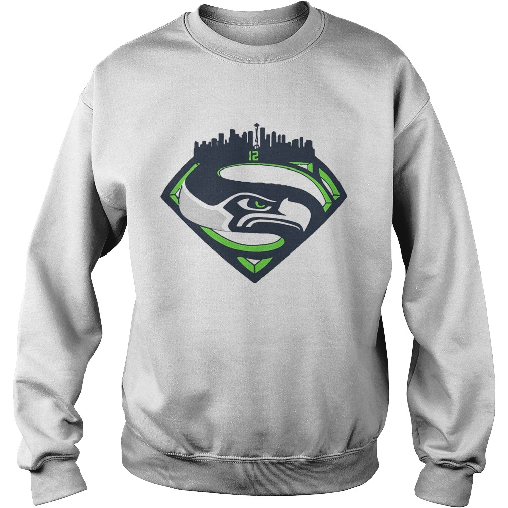 Seattle Seahawks Superman 12 Shirt Sweatshirt