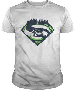 Seattle Seahawks Superman 12 Shirt Unisex