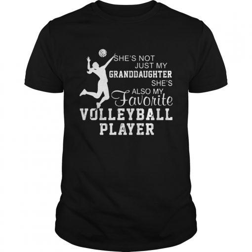 Shes not just my grandaughter shes also my favorite volleyball player  Unisex