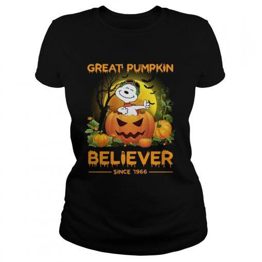 Snoopy great pumpkin believer since 1966  Classic Ladies