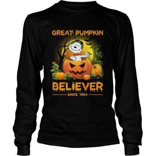 Snoopy great pumpkin believer since 1966  LongSleeve