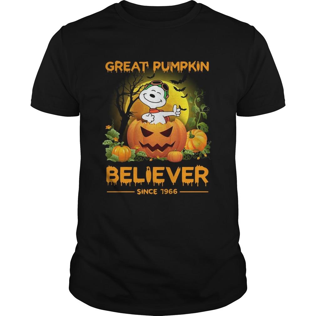 Snoopy great pumpkin believer since 1966 Unisex
