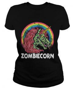 Top Zombiecorn Zombie Unicorn Halloween Women Rainbow  Classic Ladies