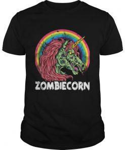 Top Zombiecorn Zombie Unicorn Halloween Women Rainbow  Unisex