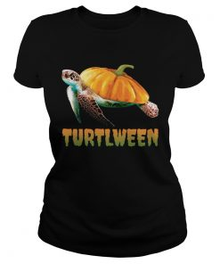 Turtlween Funny Halloween Pumpkin Turtle Lovers Shirt Classic Ladies