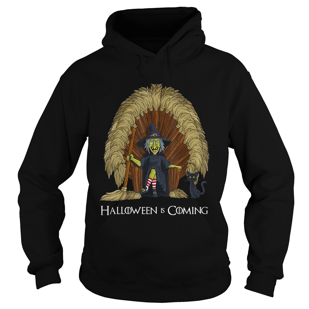 Witch Brooms Throne Funny HalloweenTShirt Hoodie