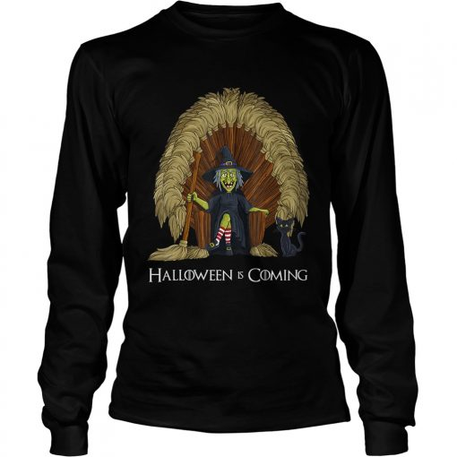 Witch Brooms Throne Funny HalloweenTShirt LongSleeve