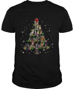 Australian cattle dog Christmas Tree TShirt Unisex