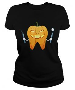 Beautiful Dentist Halloween Night Pumpkin Scrubs Scary Gift  Classic Ladies