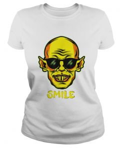 Beautiful Im Fine You Smile Zombie Halloween Vampire Graphic  Classic Ladies