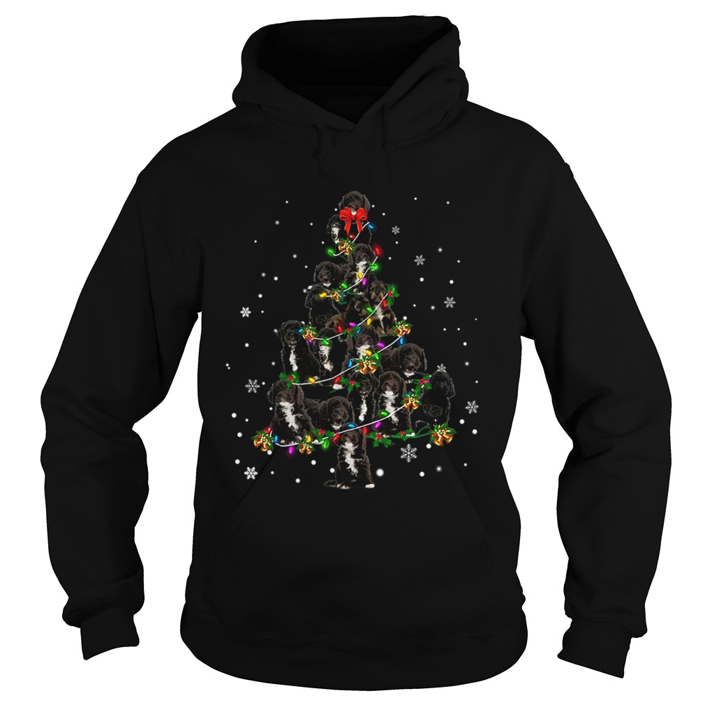 Black Cockapoo Christmas Tree TShirt Hoodie