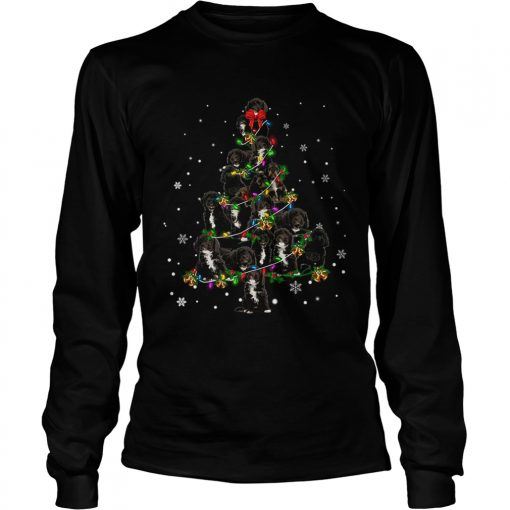 Black Cockapoo Christmas Tree TShirt LongSleeve