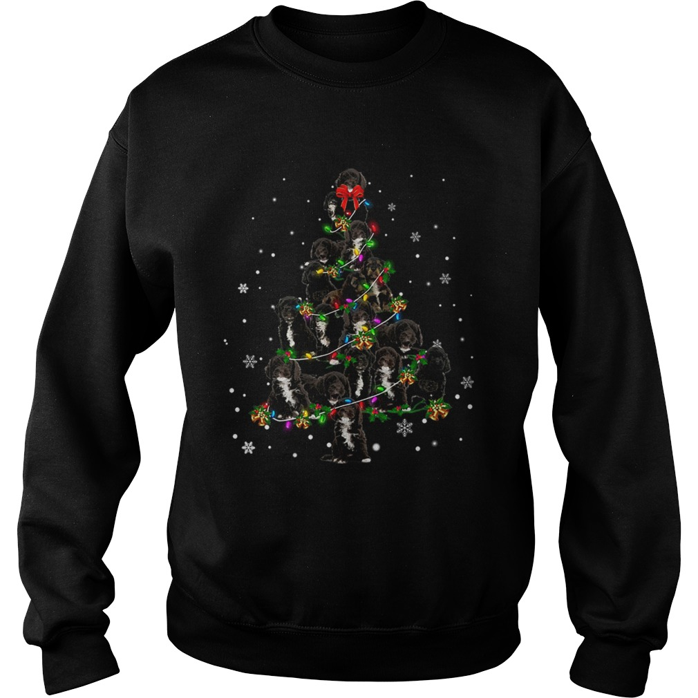 Black Cockapoo Christmas Tree TShirt Sweatshirt