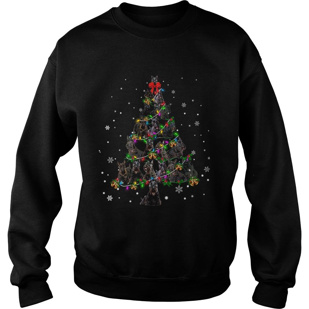 Black Scottie Christmas Tree TShirt Sweatshirt