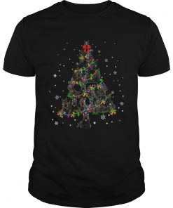 Black Scottie Christmas Tree TShirt Unisex