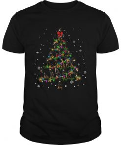 Black and Tan Coonhound Christmas Tree TShirt Unisex