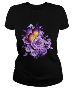 Butterfly purple rose  Classic Ladies