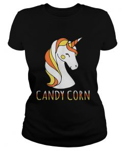 Candy Corn Unicorn Halloween  Classic Ladies