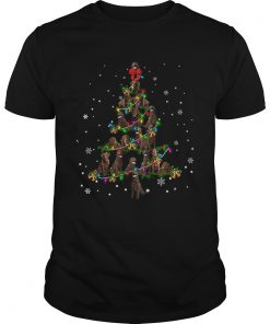 Chesapeake Bay Retriever Christmas Tree TShirt Unisex