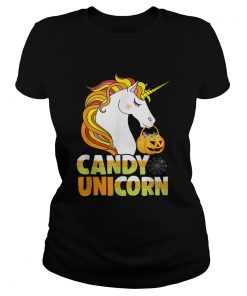 Cute Candy Corn Unicorn Halloween Girls Outfit  Classic Ladies