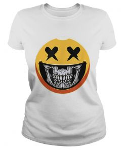 Cute Scary Halloween Smiley Skull Costume Emojis Gift  Classic Ladies