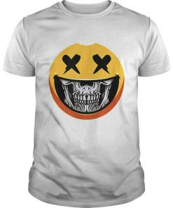 Cute Scary Halloween Smiley Skull Costume Emojis Gift  Unisex
