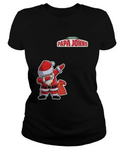 Dabbing Santa Pizza Papa Johns  Classic Ladies