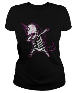Dabbing Unicorn Skeleton Halloween Costume Men Women Gift  Classic Ladies