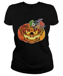Day of the Dead Sugar skull in Pumpkin Halloween  Classic Ladies