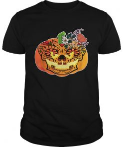 Day of the Dead Sugar skull in Pumpkin Halloween  Unisex