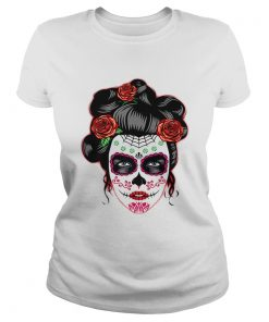 Dia de los Muertos Day of the Dead Skull Halloween  Classic Ladies