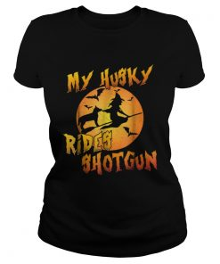 Dog HalloweenMy Husky Rides Shotgun  Classic Ladies