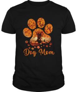 Dog Mom Autumn Leaves Halloween TShirt Unisex
