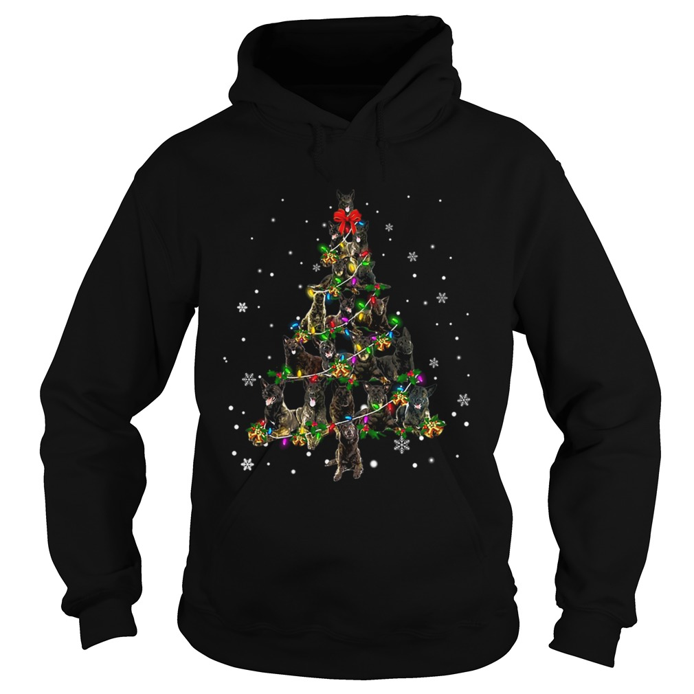 Dutch Shepherd Christmas Tree TShirt Hoodie