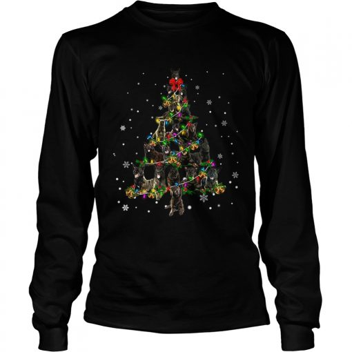 Dutch Shepherd Christmas Tree TShirt LongSleeve