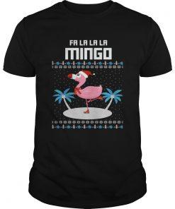 Fa La La Flamingo Ugly Christmas TShirt Unisex